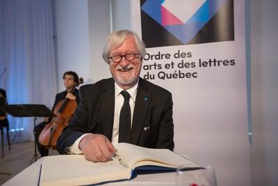 Michel Dallaire, récipiendaire de l'Ordre des arts et des lettres du Québec, lors de la cérémonie de remise organisée par le Conseil des arts et des lettres du Québec le 29 mai 2017. Crédit photo : Alexandre Claude. (Groupe CNW/Conseil des arts et des lettres du Québec)