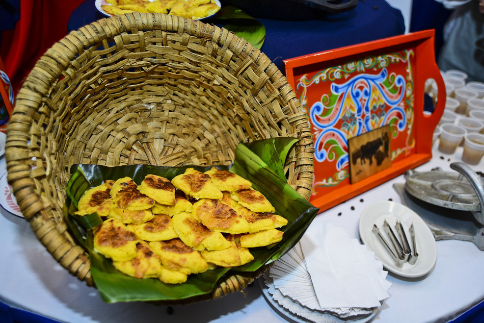 Bizcocho de maíz, a typical Costa Rican snack, is made with fresh locally-sourced corn.