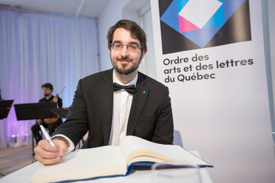 Charles Richard-Hamelin, Companion of the Ordre des arts et des lettres du Québec. May 29, 2017.  Photo ...