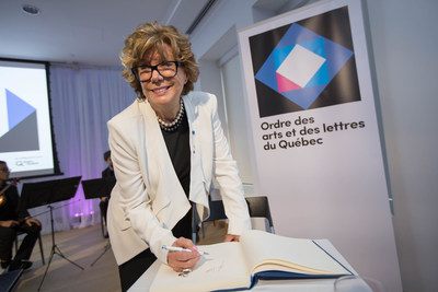 Denise Filiatrault, Companion of the Ordre des arts et des lettres du Québec. May 29, 2017.  Photo credit:  ...