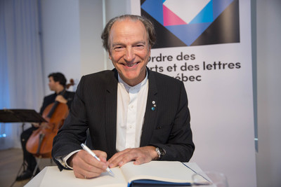 Pierre Lassonde, Companion of the Ordre des arts et des lettres du Québec. May 29, 2017.  Photo credit: ...