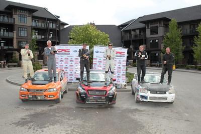 Toute première victoire à un rallye national pour le Subaru Crosstrek (Groupe CNW/Subaru Canada Inc.)