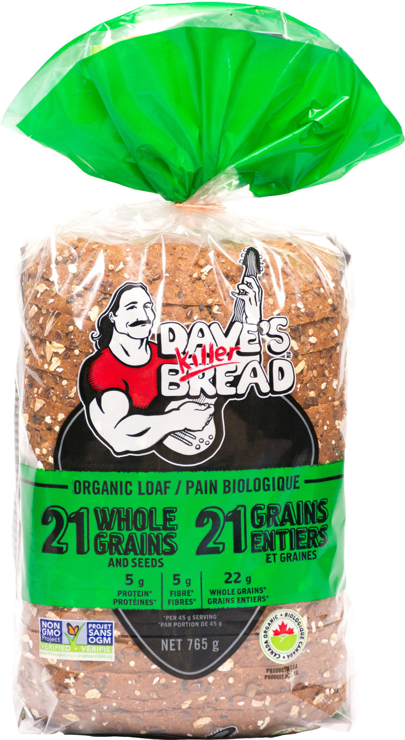 Packed with whole grains, seeds and free of all things artificial, Dave's Killer Bread is all killer, no filler (CNW Group/Weston Bakeries Limited)