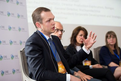 Alexey Golovin of KazMunayGas International addresses the Energy Security panel discussion at Romanian Energy Day, Brussels (PRNewsfoto/Romanian Energy Center)