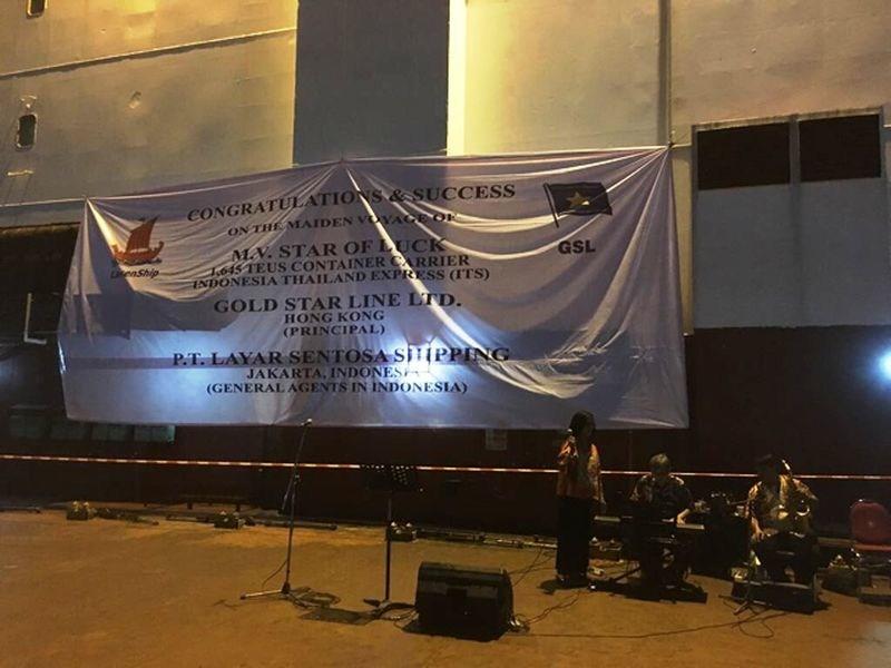 Preparations in Semarang port awaiting the GSL vessel (PRNewsfoto/Gold Star Line Ltd.)
