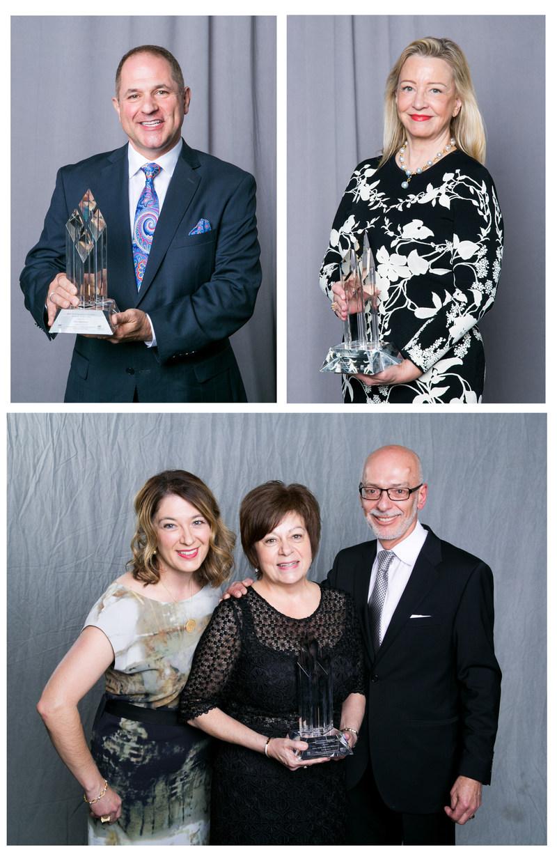 Award of Distinction Winners Clockwise: Clint Mahlman (London Drugs), Bonnie Brooks (formerly Hudson's Bay Company), Allan, Anita and Lisa Malbranck (Diamond Gallery) (CNW Group/Retail Council of Canada)