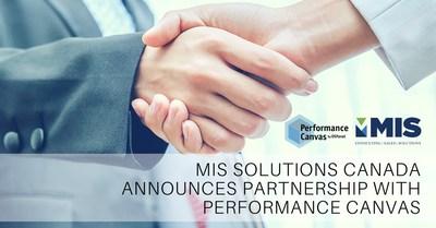 MIS Solutions Canada, une filiale de MIS Consulting & Sales, s'associe avec Performance Canvas pour offrir une solution complète de gestion de rendement de l'entreprise conçue pour les moyennes et grandes entreprises ayant des besoins d'affaires simples ou complexes.