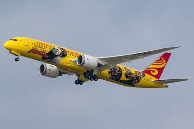 Hainan Airlines unveils third Kung Fu Panda-themed plane as part of collaboration with DreamWorks Animation