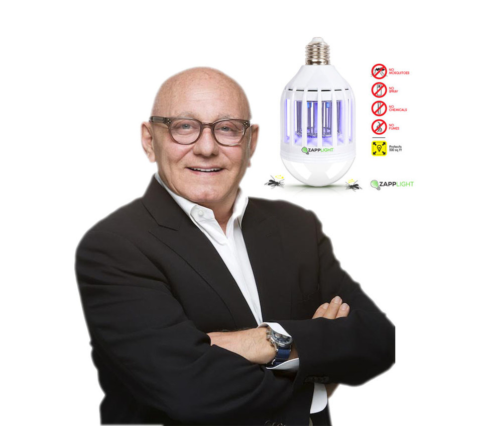Max Azria, ceo of Clean Concept LLC and ZappLight shines light on global Zika crisis with world's first 2-in-1 LED light bulb and bug zapper.
