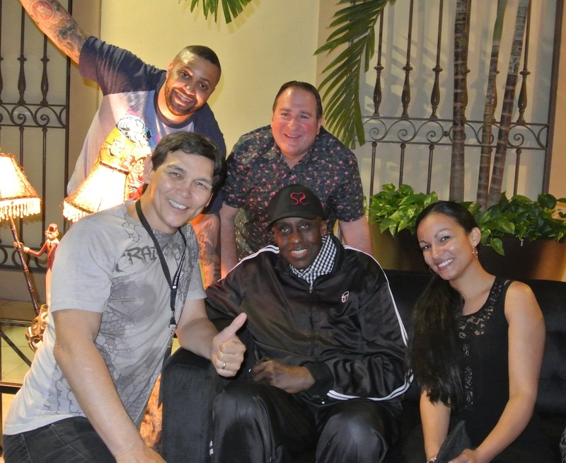 """Stars of """"Paying Mr. McGetty"""" celebrating with legendary actor producer director Bill Duke (Predator, Sister Act, Payback, ) at the Gulf Coast Red Carpet Premiere: R Marcos Taylor e, Gotham, Hostages), """"The Gold Man"""" Mark Richard Goldman (Assassin X, Marvel's Daredevil/Jessica Jones/Daredevil, Orange Is The New Black, Blacklist, Blue Bloods), Don """"The Dragon"""" Wilson (Batman Forever, The Scorpion King, Bloodfist, The Expendables, The Martial Arts Kid), Anita Clay (Black Heart, Crims"""