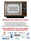 Publicité des groupes de santé parue dans le Hill Times d'aujourd'hui (page 5) (Groupe CNW/Coalition québécoise pour le contrôle du tabac)