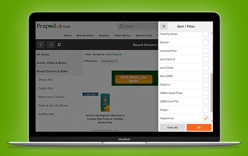 Peapod Nutrition Filters