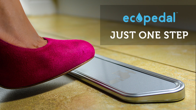 Save Water. Save Money. Stop the Spread of Germs and Bacteria at Home with the ecopedal.