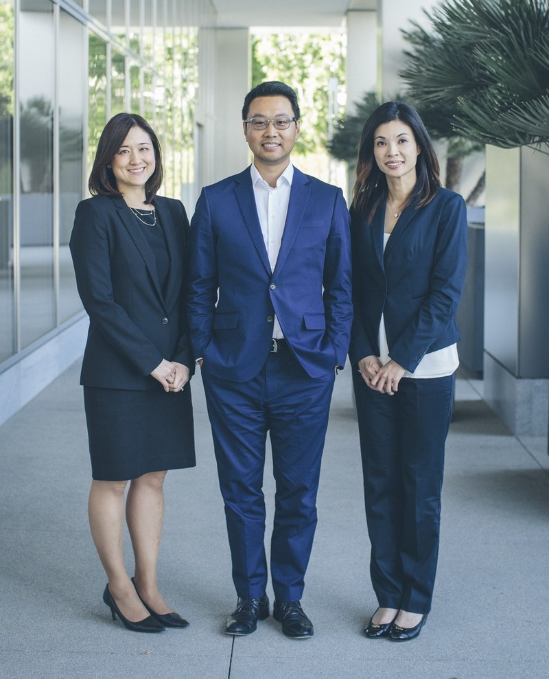 Photo: Interstate Hotels & Resorts' Asia Investment Group: Jackie Lee, Don Li, and Tina Chang.