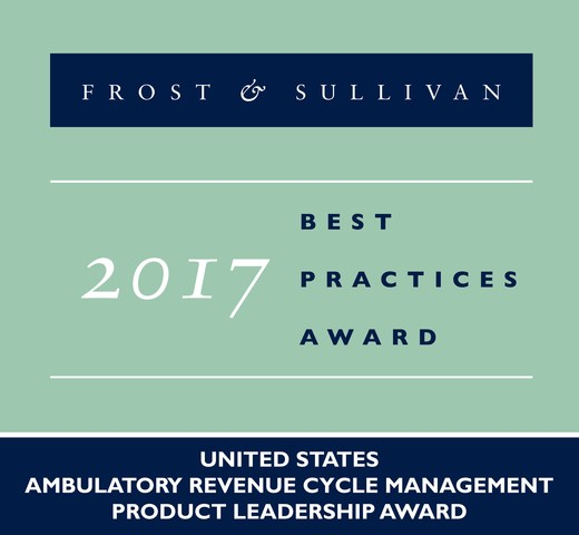 Aprima Recognized with Frost & Sullivan's Product Leadership Award for its Outstanding Ambulatory Revenue Cycle Management Platform
