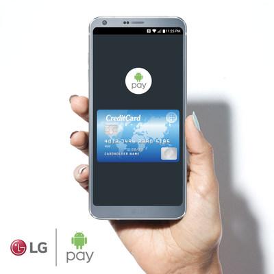LG Electronics Canada (LG) a annoncé aujourd'hui qu'elle s'est associée à Google pour devenir l'une des premières sociétés d'électronique grand public à lancer Android Pay au Canada. (Groupe CNW/LG Electronics Canada)