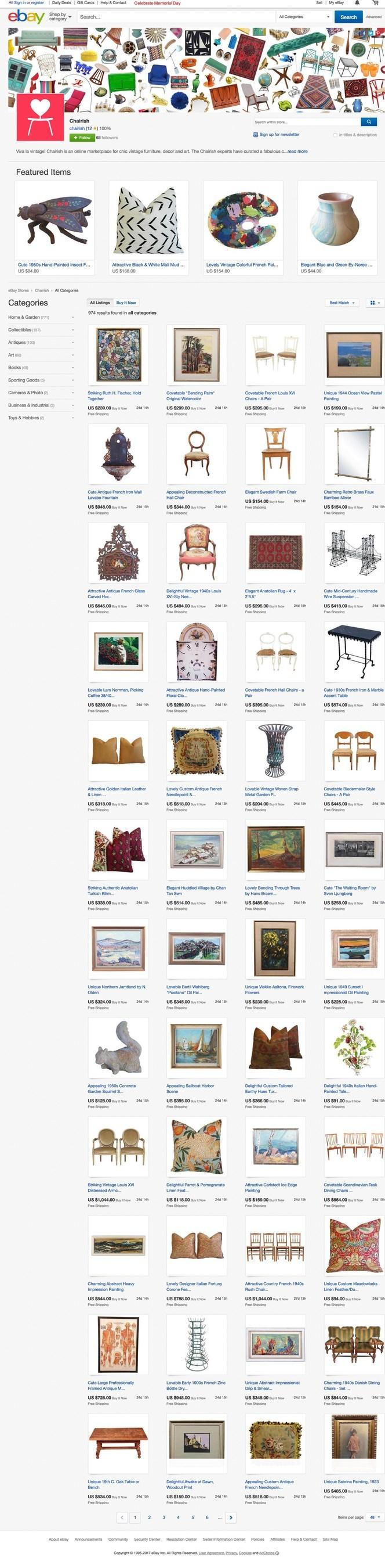 Chairish's eBay Store (stores.ebay.com/Chairish)