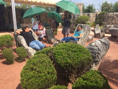 Wounded Warrior Project veterans and their families toured Coral Castle that took more than 28 years to carve by hand. It's still a mystery how a 100-pound man moved and reshaped more than 1,100 tons of limestone without electricity and water.