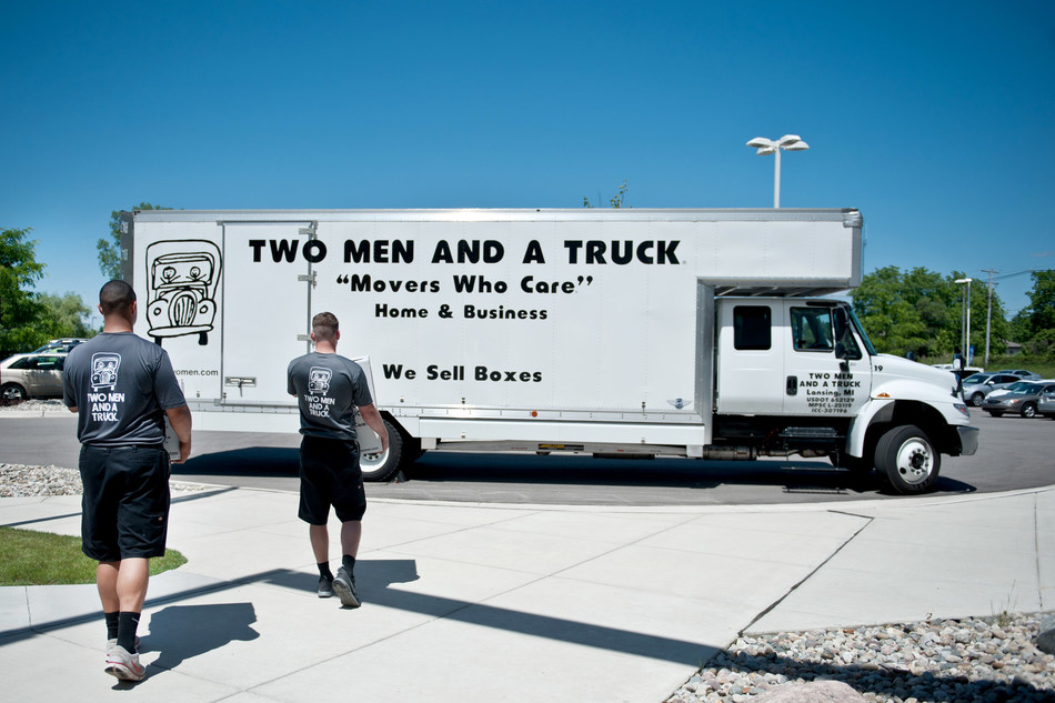 """For home or business, TWO MEN AND A TRUCK® are the """"Movers Who Care®"""" with a 96% referral rate, and professional, trusted movers."""