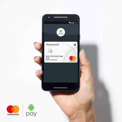 Android Pay maintenant accessible aux détenteurs d'une carte Mastercard au Canada. (Groupe CNW/Mastercard)