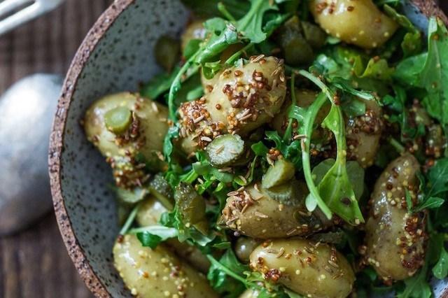 Warm Mustard Seed Potato Salad