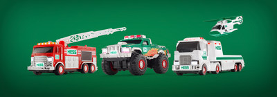 The 2017 Hess Toy Truck Mini Collection vehicles