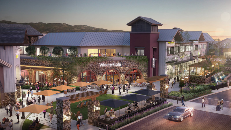 The Vineyards at Porter Ranch, CA, will feature upscale shops, unique entertainment, high-end restaurants, a medical center, offices, luxury apartments and a hotel.