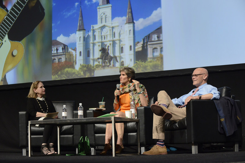 AAE 2016-2017 President Dr. Linda G. Levin discusses the politics of the day with Mary Matalin and James Carville at the AAE17 General Session.