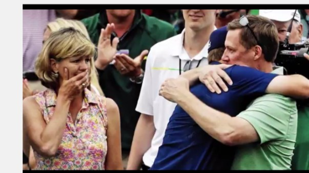 One of the world's top golfers Jordan Spieth shares his favorite memory of his dad as part of a new campaign from PGA TOUR Superstore. Spieth is shown here with his parents, hugging his Dad after his first Masters win.
