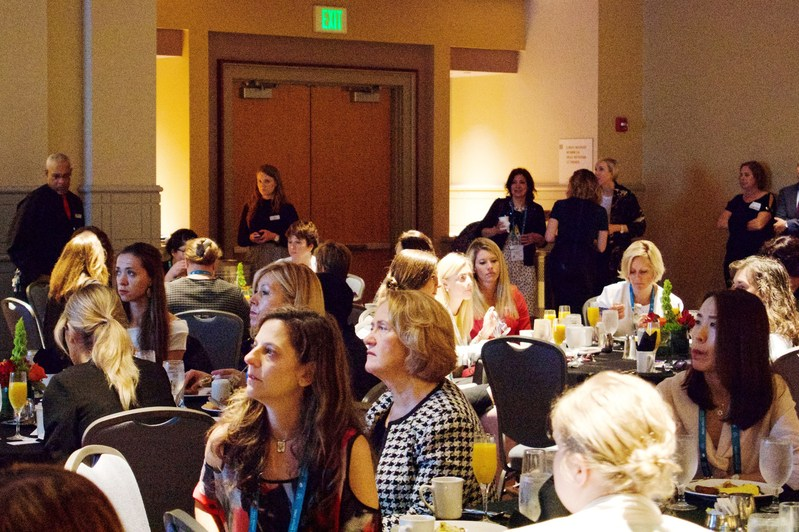 Hardly an empty seat at the Women in Leadership Forum as women and men alike gathered to discuss how women can advance within the pharmaceutical and specialty chemicals industries.