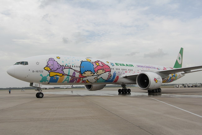 EVA Air makes flying fun from Chicago with its Hello Kitty Shining Star Jet. It uses the specially painted plane for three of seven weekly nonstop flights to Asia.