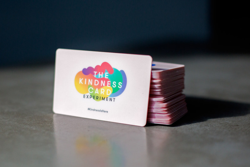 Starting today, approximately 5,000 Kindness Cards are being released throughout New York's five boroughs as part of The Kindness Card Experiment. Any card recipient must pass it to a fellow New Yorker, inspiring a chain reaction of kindness throughout the city.  The Kindness Card is reloaded with $10 that can be redeemed for a gift card online or donated to a local charity before it should be passed on to the next deserving person.  #KindnessIsHere @TheKindnessCard www.kindnesscard.com