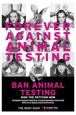 The Body Shop launches Forever Against Animal Testing campaign (CNW Group/The Body Shop)