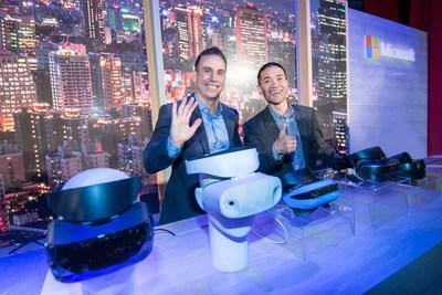 Microsoft showcases Windows Mixed Reality headsets