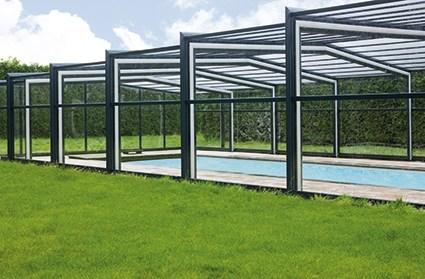 Excelite Model F swimming pool enclosure