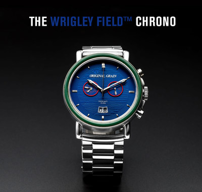 "Original Grain Watch Co. and Chicago Cubs recognize fans with limited edition ""The Wrigley Field™ Chrono"" collectible watch."