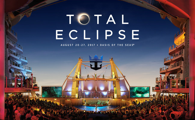 Royal Caribbean's Oasis of the Seas  will offer the best seat in the house to view the total solar eclipse, 99 years in the making, on an unforgettable 7-night cruise that will feature the celebration of a lifetime with eclipse-themed experiences and a concert by a major headliner - to be named at a later date.
