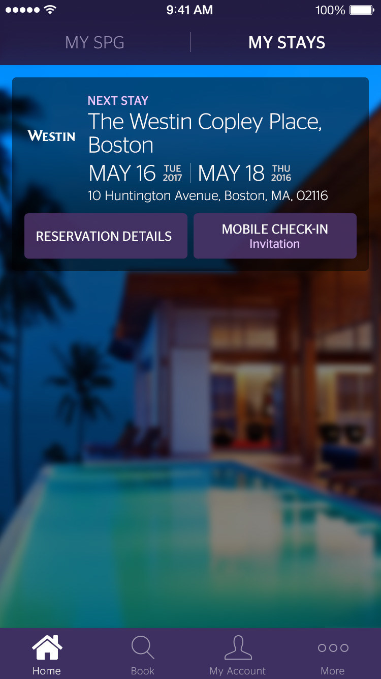 Starwood Preferred Guest (SPG) – One of Marriott International's Loyalty Programs --- Further Elevates The Member Experience Through Mobile Check-In