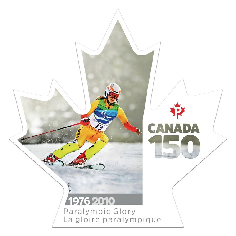 The Paralympics hosted in Canada celebrated in stamp marking Canada 150 (CNW Group/Canada Post)