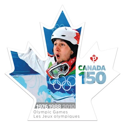 The Olympics hosted in Canada celebrated in stamp marking Canada 150 (CNW Group/Canada Post)