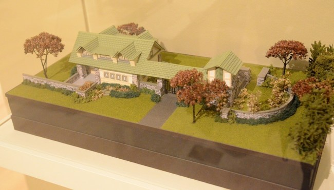 Miniature scale models of some of Frank Lloyd Wright's designs are now on display.