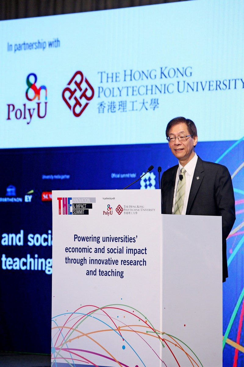 """Professor Timothy W. Tong, PolyU President, said, """"PolyU looks forward to joining hands with more powerhouses of knowledge around the world to empower universities' economic and social impact, shaping a better future for all."""" (PRNewsfoto/The Hong Kong Polytechnic Univer)"""