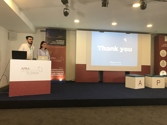 Newsmeter's presentation during the conference