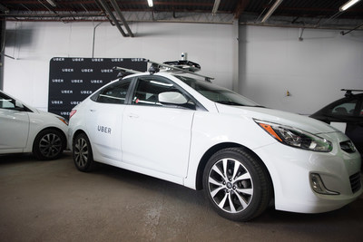 Uber mapping car (CNW Group/Uber Canada Inc.)