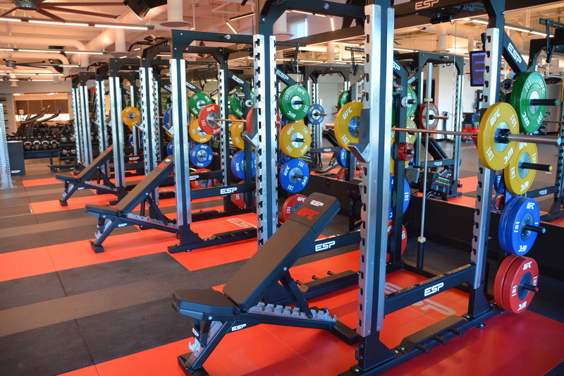 ESP Power Racks, ESP Lifting Platforms, ESP Bumper Plates and Olympic Bars, ESP modular storage system, ESP Dumbbell Racks, ESP Ceiling mounted TotalFreedom Functional Frames, ESP DeadBall Throwing Wall, ESP Power Sled