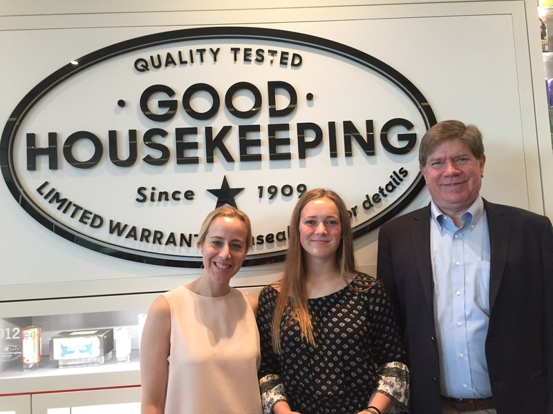 Rachel Rothman, Chief Technologist at the Good Housekeeping Institute; Gabrielle Grupenhof, Citizen STEM Initiative Award Winner; and Bob Goodman, Executive Director at The New Jersey Center for Teaching and Learning