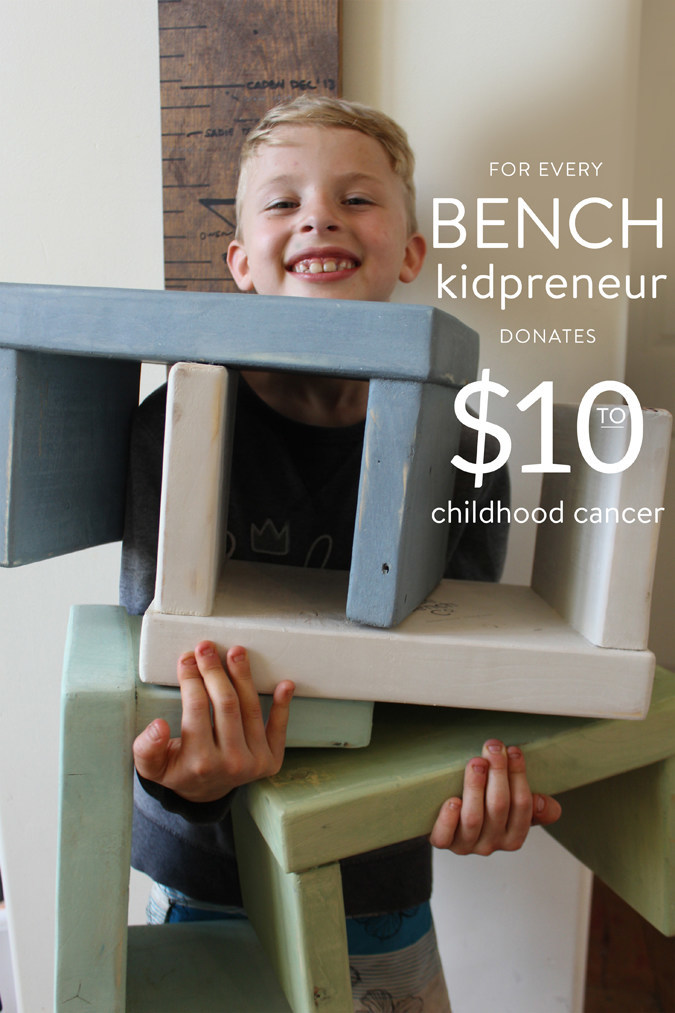 Nontoxic & Sustainable Step Stools for Kids; Donates for Childhood Cancer Causes