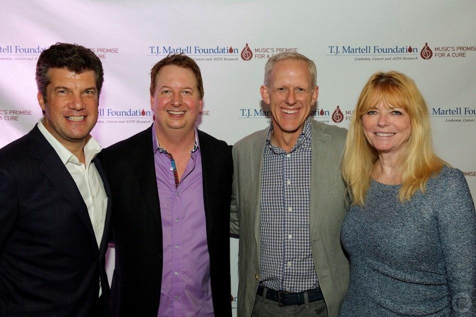 Pictured left to right: Lee Jay Berman, Warren Christensen, Ken Bunt, Cheryl Tiegs