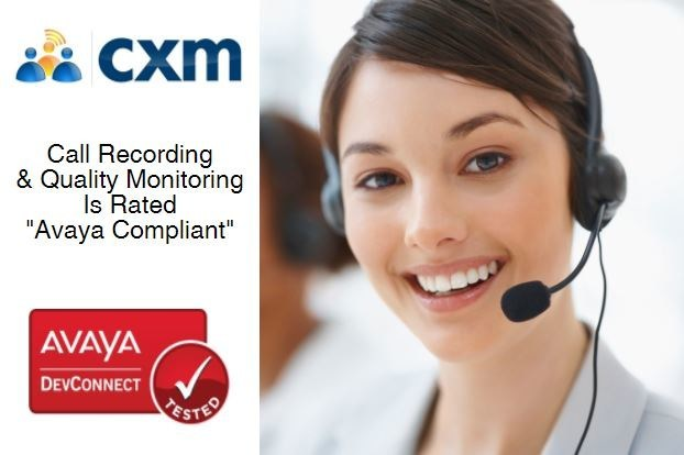 Call Recording and Quality Monitoring is Rated Avaya Compliant