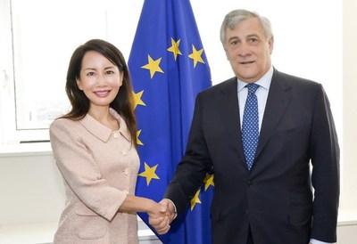 Jane met with Antonio Tajani, President of the European Parliament during her visit in Brussels